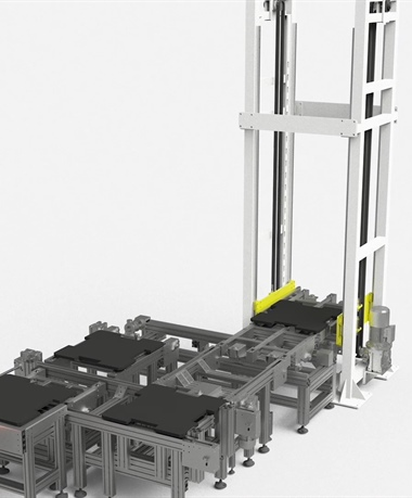 Two levels pallets storage system